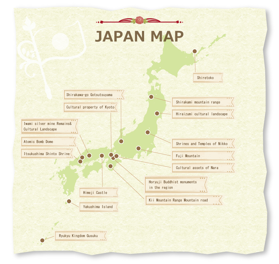 Unesco japan map