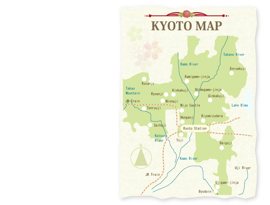 Unesco Kyoto Map