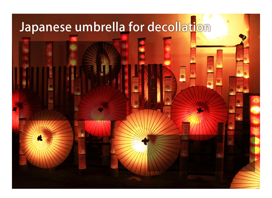 Japanese Umbrella for decollation