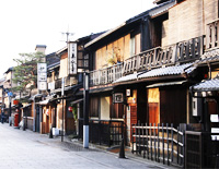 gion city kyoto japan sightseeing