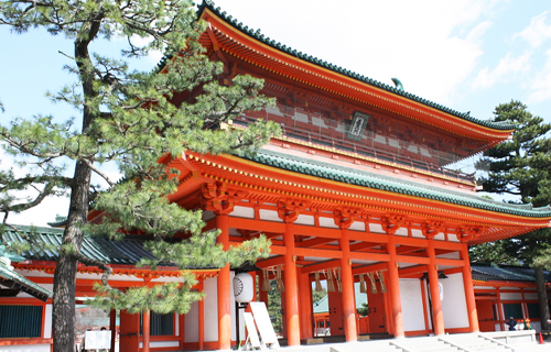 Heian shrine in kyoto sightseeing