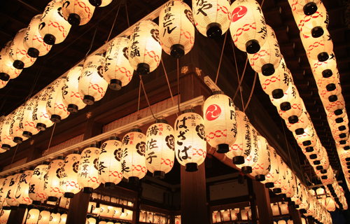 Yasaka shrin history in kyoto japan sightseeing